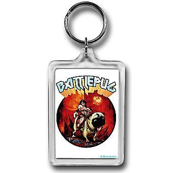 BattlePug Warrior Stance Lucite Keychain