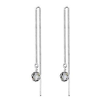 Elli Silver Women's Earrings 925 with Grey Crystal
