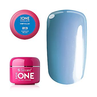 Base one-Metallic-Cosmic Blue 5g UV gel