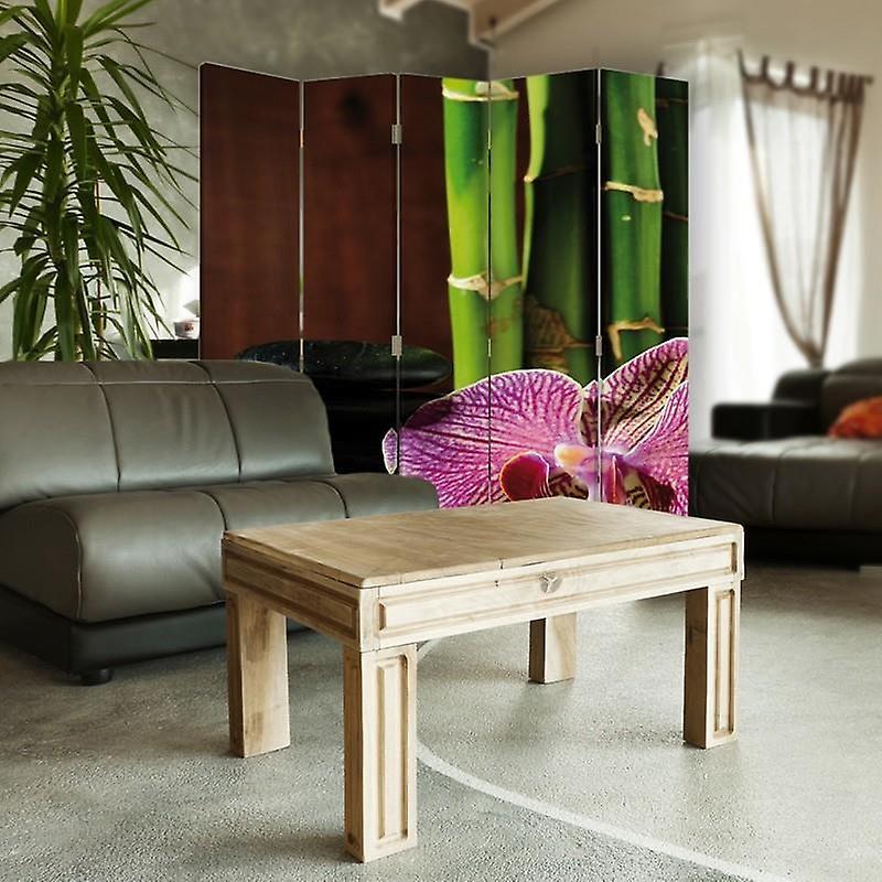 Diviseur de chambre, 5 panneaux, double-sided, Rotatable 360, toile, Zen 5