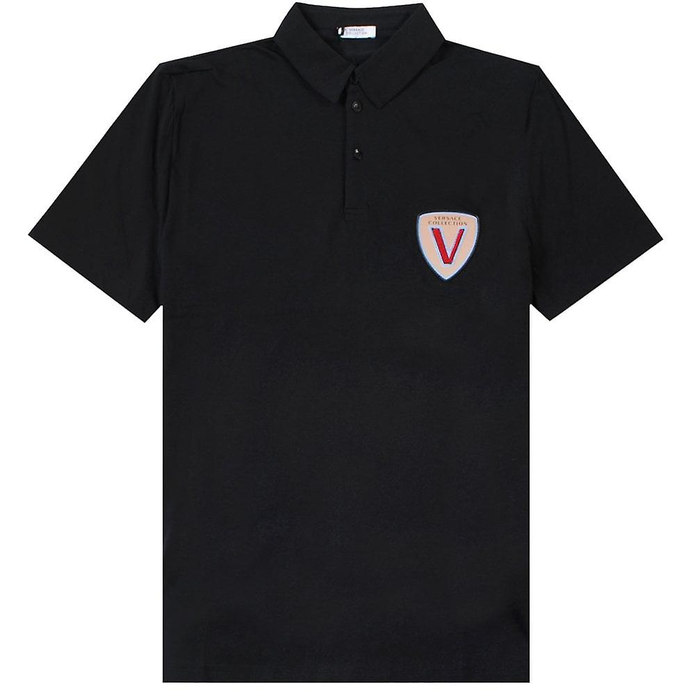 Versace Collection Embroidered Logo Polo Shirt