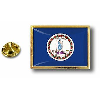 Pine PineS Badge Pin-apos;s Metal With Butterfly Brush Flag USA Virginia