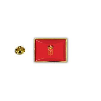 Pine PineS PIN badge PIN-apos; s metalen epoxy met vlinder pinch vlag Spanje Navarre