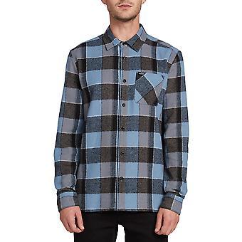 Volcom Neo Glitch Camicia a maniche lunghe in Blue Rinse