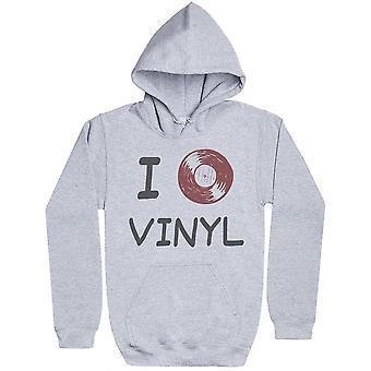 I Love Vinyl - Womens Hoodie