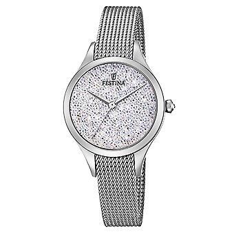 Festina F20336-1 Women's Mademoiselle Silver Tone Wristwatch