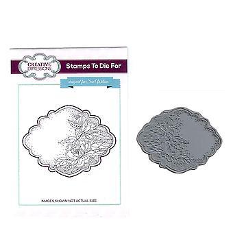 Expressions créatives prédécoupés Rubber Stamp Sue Wilson UMS632 Floribunda