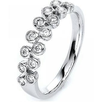 Diamantring-14K 585/-hvid guld-0,26 CT. Størrelse 54