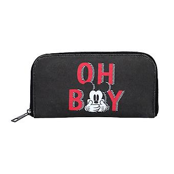 "Disney Mickey Mouse ""Oh Boy"" Black Clutch Purse"