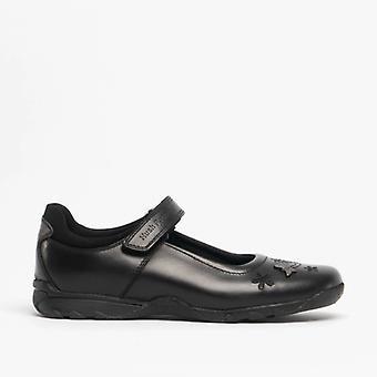 Hush Puppies Clare Jnr meisjes lederen school schoenen zwart