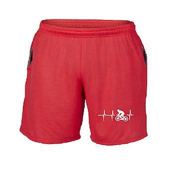 Pantaloncini tuta rosso dec0172 il mioore batte per il ciclismo