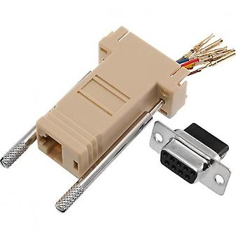 Adapter Rj45F do Db9F