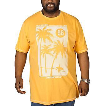 Duke D555 hombres grande alta Kansas manga corta camiseta de cuello redondo Top Camiseta - Naranja