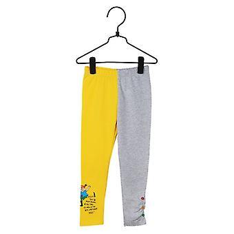Pippi Pitkäsileää lainaus leggingsit (keltainen)
