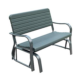 Outsunny Swinging Two-Seater Garden Bench Metal Frame Rocker Loveseat Relaxation Garden Outdoor