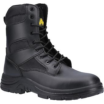 Amblers Safety Mens FS009C Waterbestendige Hi-leg Lace up Safety Boot Zwart