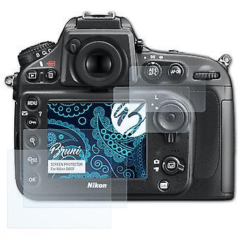Bruni 2x näytönsuoja yhteensopiva Nikon D800 suojaava kalvo