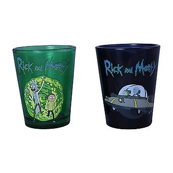 Shot Glass Set - Rick And Morty - 2 Pack Standard New sg2-rm-rmset