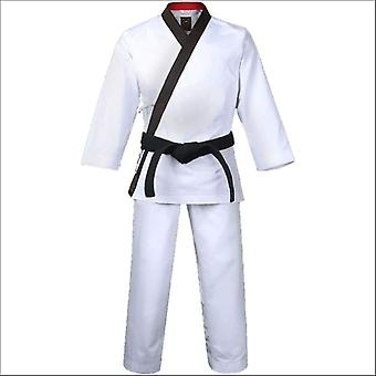 Mooto grand master geum gang uniform white with black neck