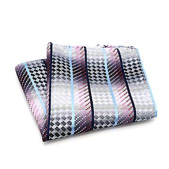 粉红色蓝色和银色鱼鳞闪闪发光的口袋方形