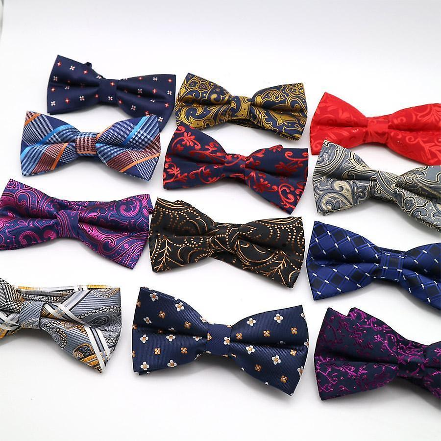 Red wine paisley bow tie & matching pocket square set