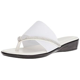ITALIAN Shoemakers Women's LUXI Sandal, White, 8.5 Medium US