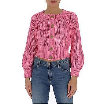 Maison Flaneur 20smdsw220fe039pink Women's Pink Cotton Cardigan