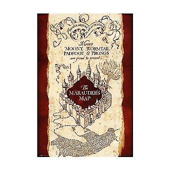 Harry Potter marauders kartta Maxi juliste