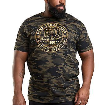 Duke D555 Mens Thompson Big Tall King Size Crew Neck Camo T-Shirt Top - Jungle