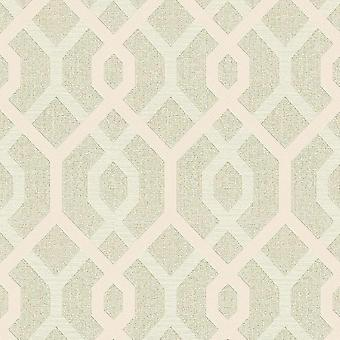 A.S. Creation AS Creation AS Creation Diamond Jewel Geometric Wallpaper Glitter Trellis Cream Gold 36874-4 A.S. Creatie AS Crearea ca creație diamond jewel geometrice Tapet Glitter Trellis Cream Gold 36874-4