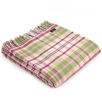 Tweedmill Pure New Wool Cottage Pink Check Throw
