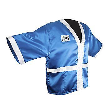 Cleto Reyes hjørne ansatte sateng boksing kappe - blå/hvit