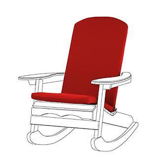 Gardenista Garden Premium Adirondack Silla Seat Pad ? Lazos seguros ? Espuma llena ? Cubierta con cremallera resistente al agua ? Suave Durable y Cómodo (Rojo)
