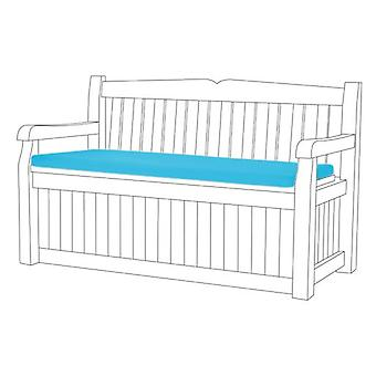 Gardenista Garden Bench Outdoor Pad | Iceni & Eden Garden Storage Benches | Patio Furniture Cushion | Water Resistant Material | Comfortable Durable and Lightweight (Turquoise)