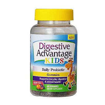 Schiff digestif avantage enfants probiotiques gummies, fruit naturel, ea 60