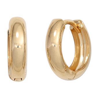 Hoops 333 gold yellow gold earrings gold earrings gold Klappkreolen