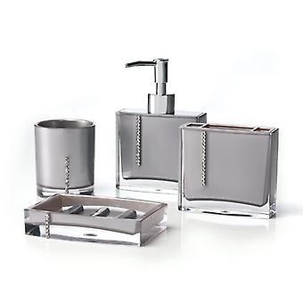 Immanuel Cristal 4 pezzi bagno Set di accessori