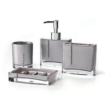 Conjunto de acessórios de casa de banho 4 peças de Cristal de Immanuel