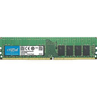 Crucial CT16G4RFD4266 16 GB memory, DDR4, 2666 MT/s, PC4-21300, Dual Rank x4, ECC, Registered, DIMM, 288-Pin