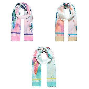 Jewelcity Dames/Dames Aquarel Vlinder print sjaal
