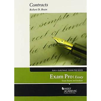 Exam Pro on Contracts - Essai de Robert D. Brain - 9780314286048 Livre
