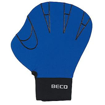 BECO Full Swimming Gloves (Large) - Blue