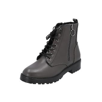 ONLY onlBAD LACE UP BOOTIE Women's Boots Grey Lace-Boots-Boots Winter