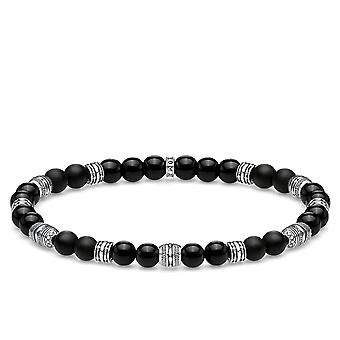 Thomas Sabo Black Lucky Charm Beaded Bracelet