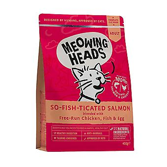 Meowing Heads Complete So-fish-ticated Salmon Adult Dry Cat Food