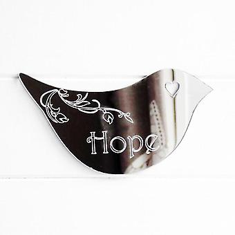 Floral Dove Acrylic Mirror Door or Wall Sign - HOPE