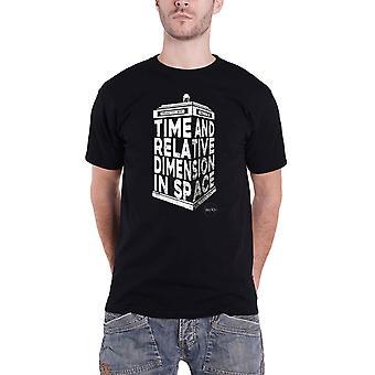 Doctor Who camiseta 3D Tardis Logo nuevo oficial hombres negro