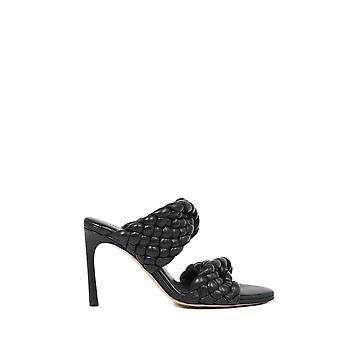 Bottega Veneta 618757vbtg01000 Kvinder's Sort læder sandaler