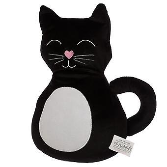 Puckator Cat Door Stop, Black