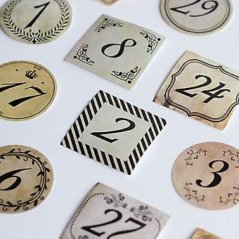 Mini Boxed Calendar Days and Numbers Memo Stickers Scrapbooking x 40